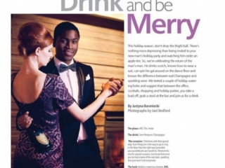 Style Magazine by Ottawa Citizen Champagne Holiday Advertisement