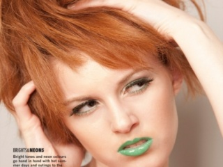 Green with Envy Beauty Editorial in Fave Magazine